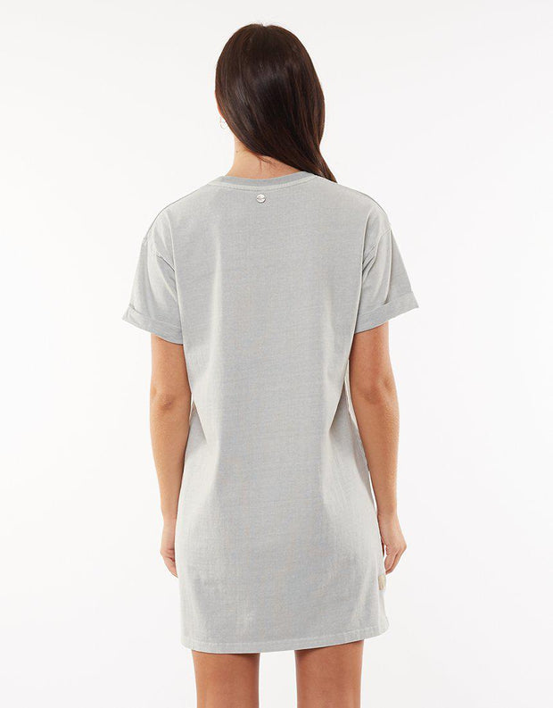 All About Eve Washed Tee Dress Light Green