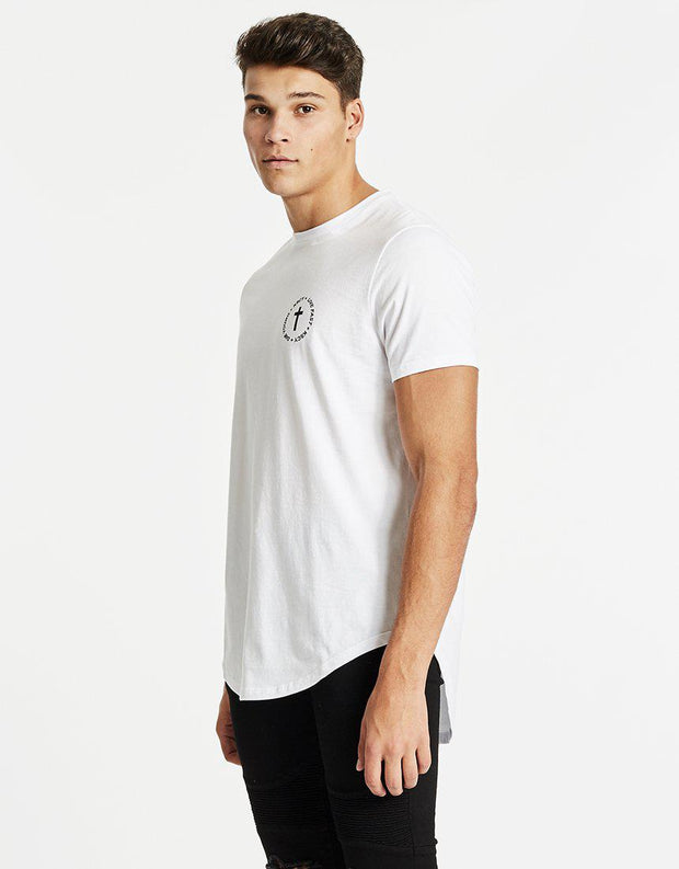 Live Fast Dual Scoop Tee White