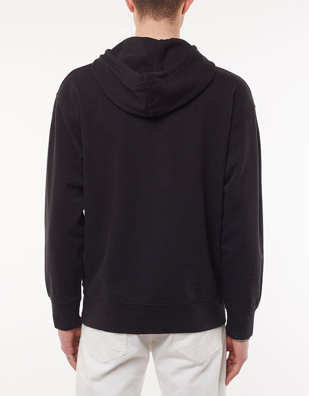 Relaxed Graphic Hoodie Mineral Black