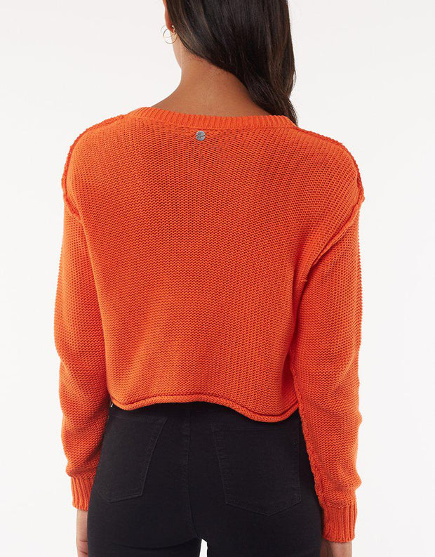 Camilla Cropped Knit Orange