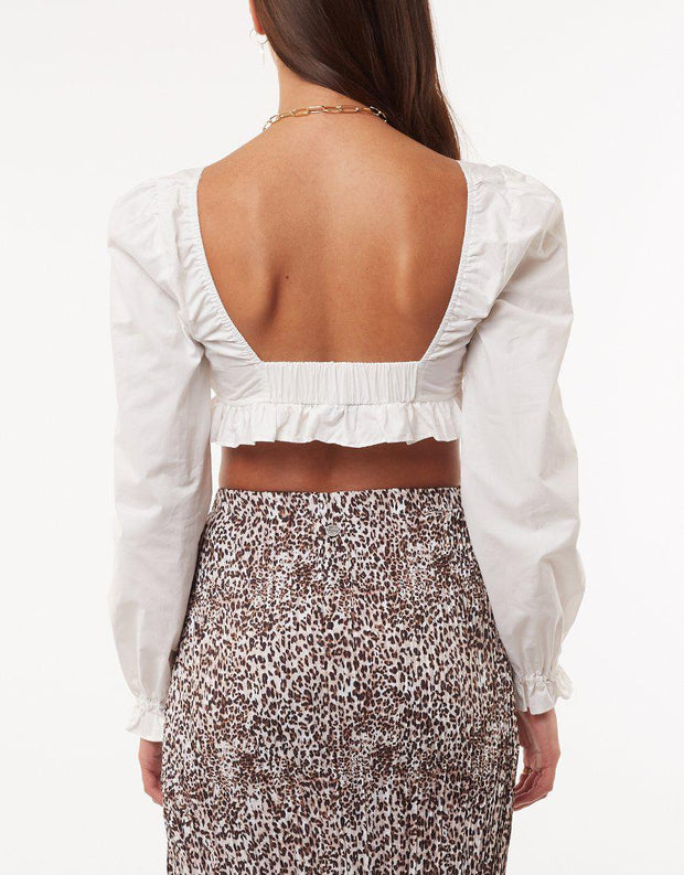Willow Crop Top White