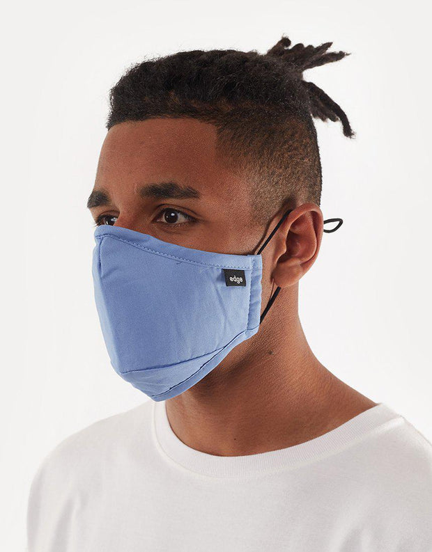 Edge Face Mask Blue