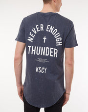 Never Dual Scoop Tee Acid Navy