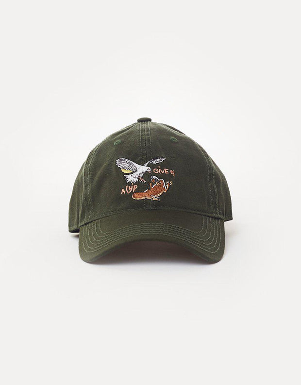 Give Us A Chip Curve Brim Hat Forest Green