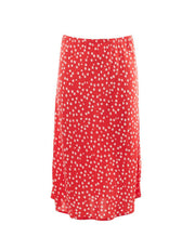 Daydreams Floral Midi Skirt Red