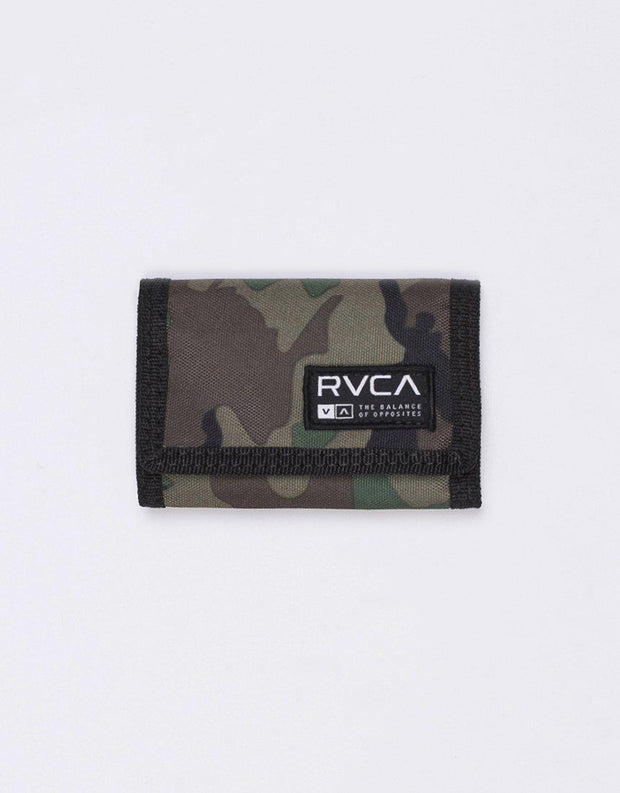 Rvca Print Trifold Wallet Cammo