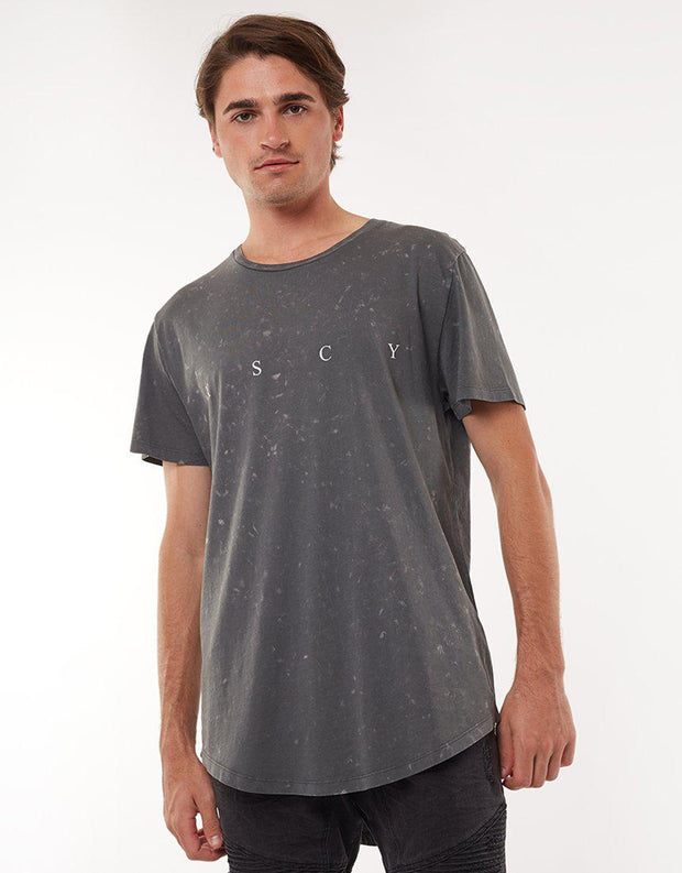Overthrown Scoop Hem Tee Charcoal