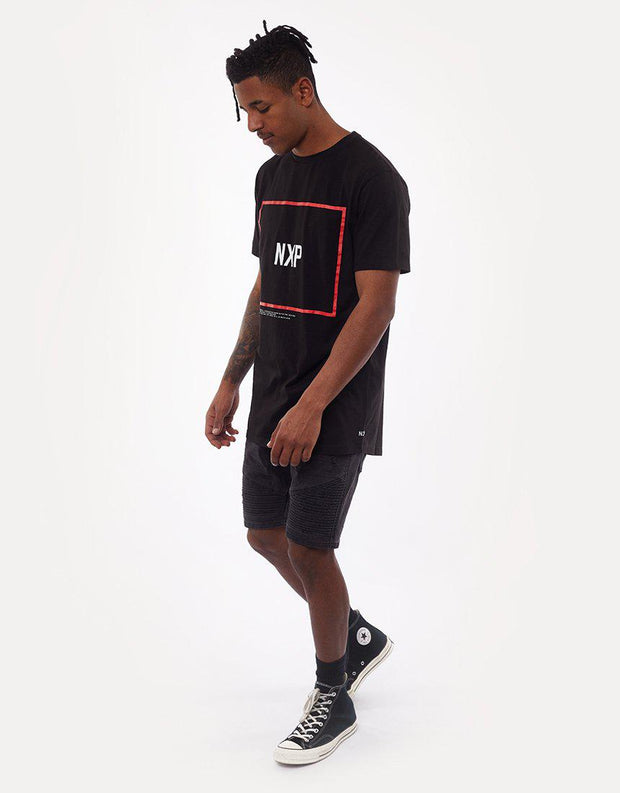 Desire Scoop Back Tee Jet Black