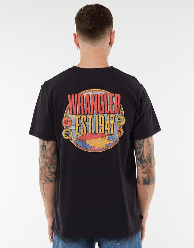 Tour Ss Tee Worn Black