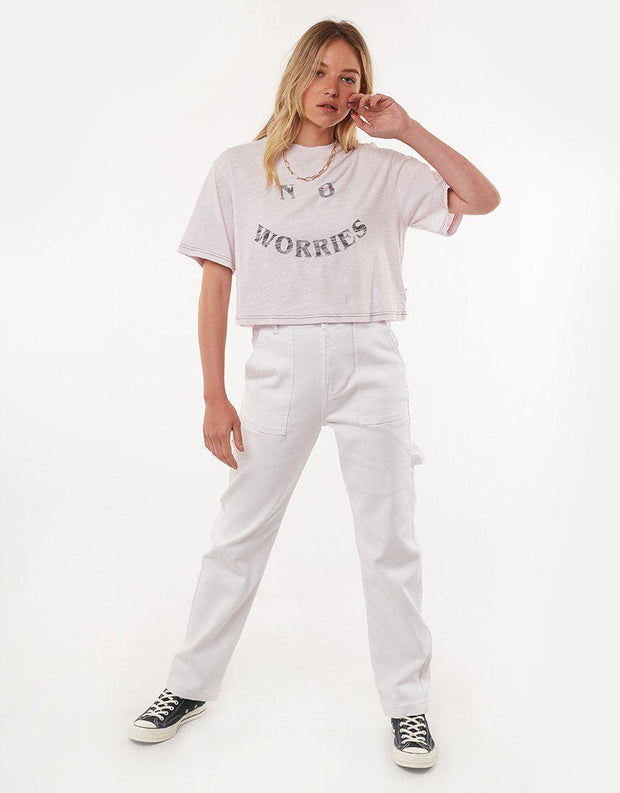 No Worries S/s Tee Lilac