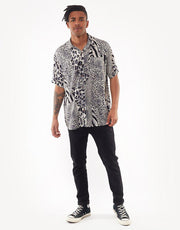 Spliced Ss Shirt Navy