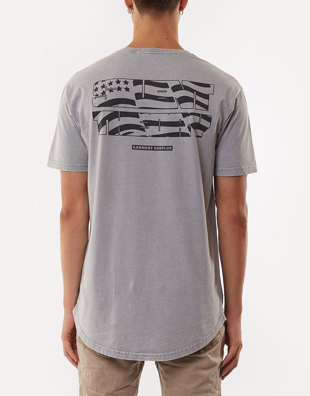 Stars And Stripes Tee Grey