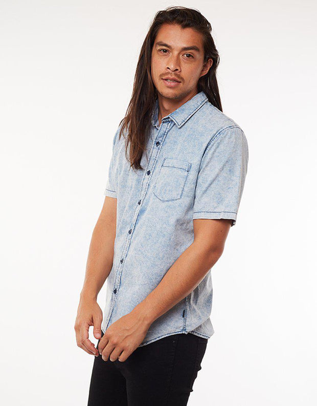 Shirt Rancher S/s Light Blue