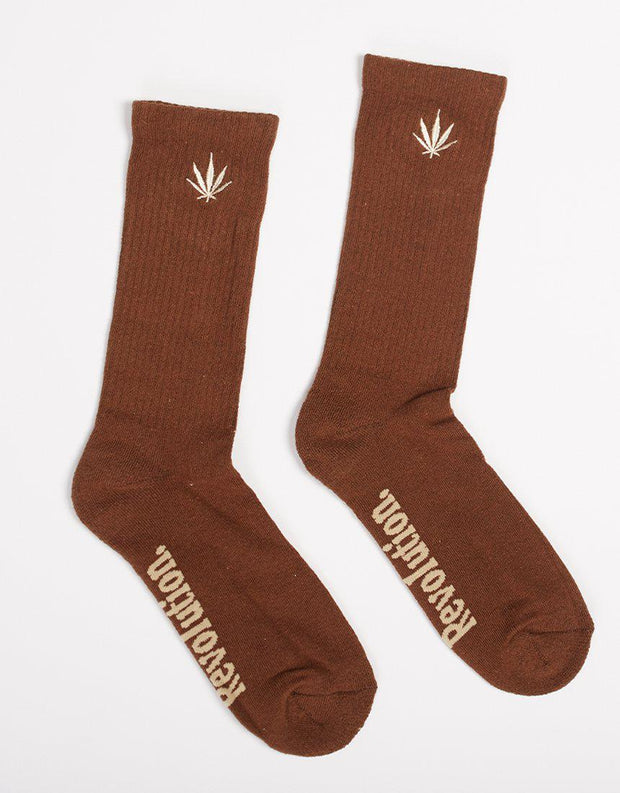 Happy Hemp Socks 1 Pk Chocolate