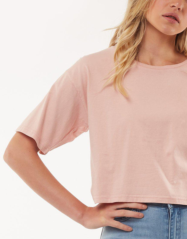 Relaxed Crop Dusty Pink