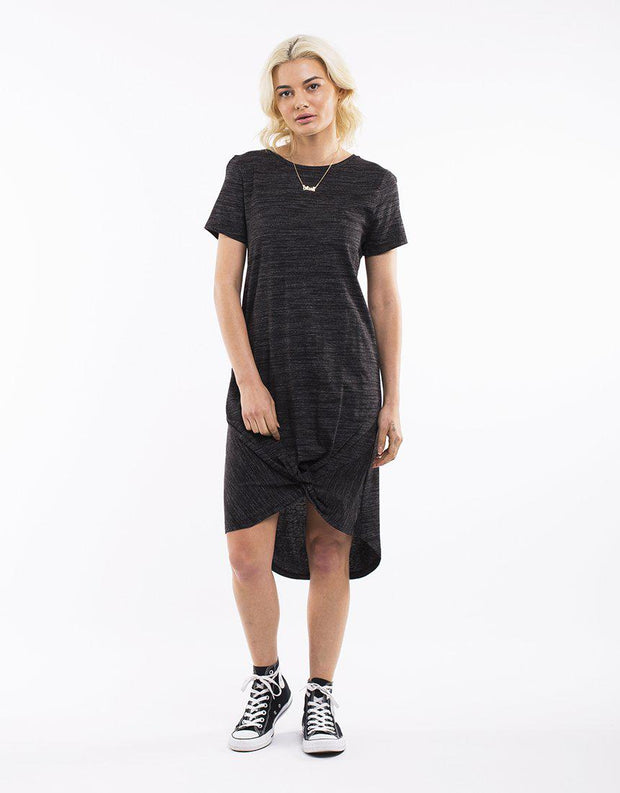 Twisted Tee Dress Grey Marle Speck