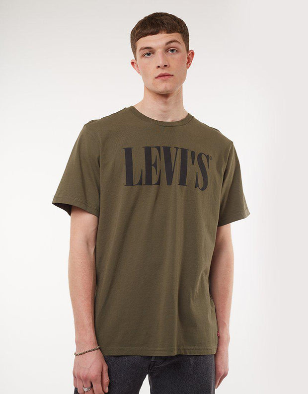 Relaxed Graphic Tee Olive