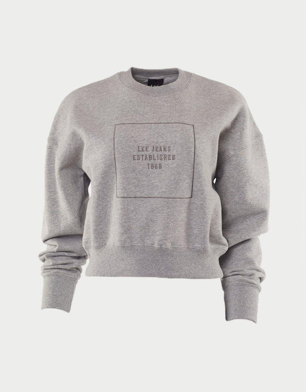 Power Crew Sweat Grey Depth