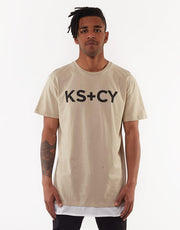 Free Town Relaxed Layered Tee Acid Sand
