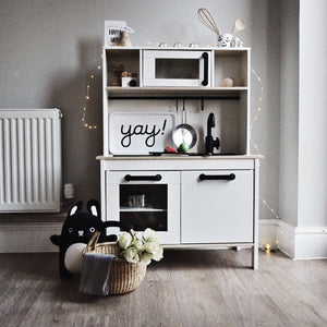 How easy is it to upcycle an Ikea toy kitchen
