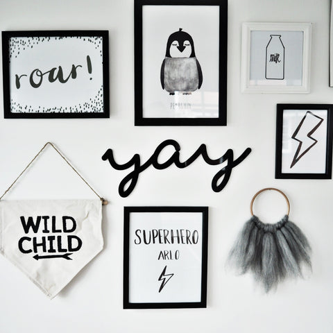 Monochrome gallery wall inspiration
