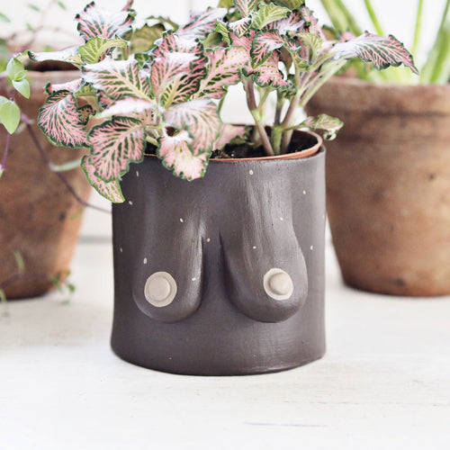 Plant Pot-brown skin tone with light brown freckles