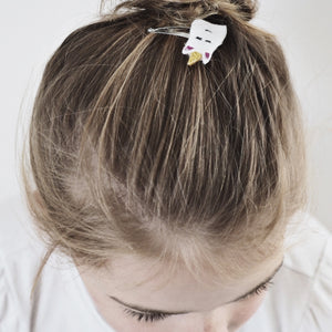 Children's pear inspired hair clips