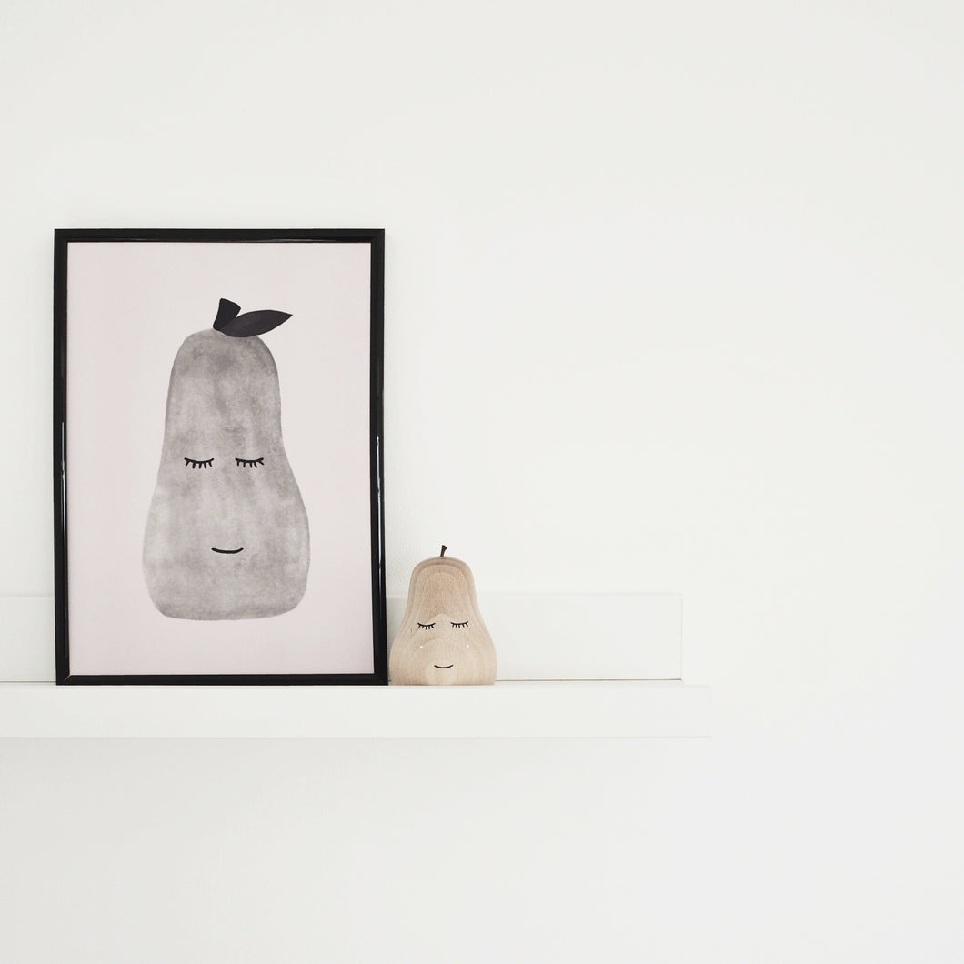 grey pear poster