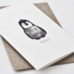 blank penguin card for penguin lovers
