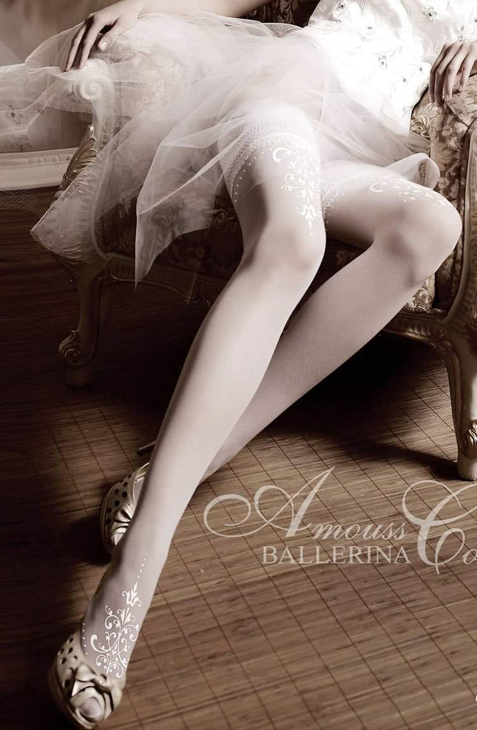 007 Hold Ups in Bianco (White) by Ballerina - Ballerina - Katys Boutique Lingerie USA