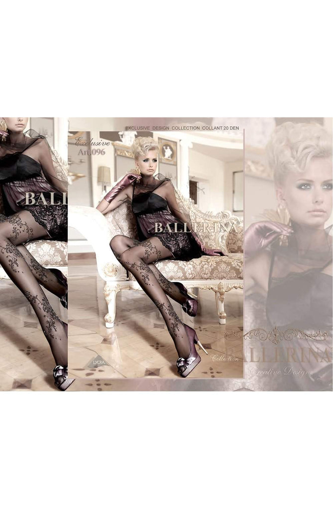 096 Tights in Black by Ballerina - Ballerina - Katys Boutique Lingerie USA