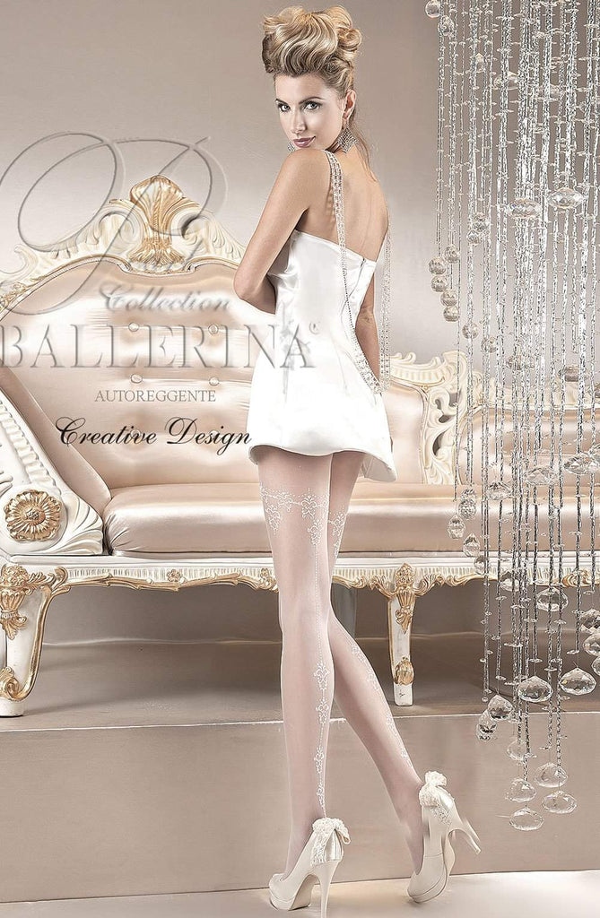 110 Tights in Bianco (White) by Ballerina - Ballerina - Katys Boutique Lingerie USA