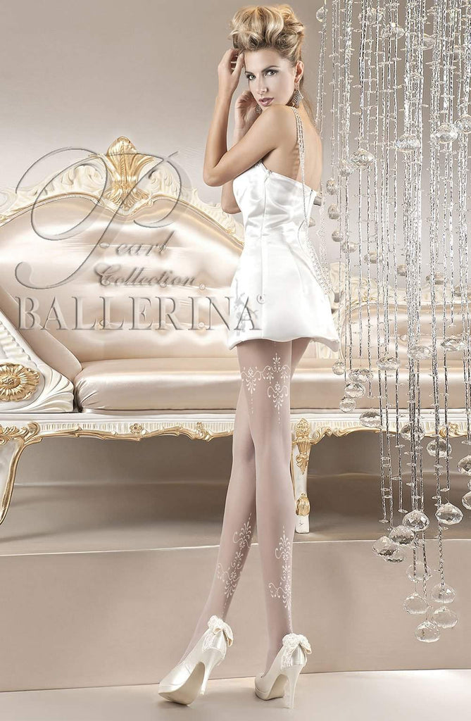 118 Tights in Bianco (White) by Ballerina - Ballerina - Katys Boutique Lingerie USA