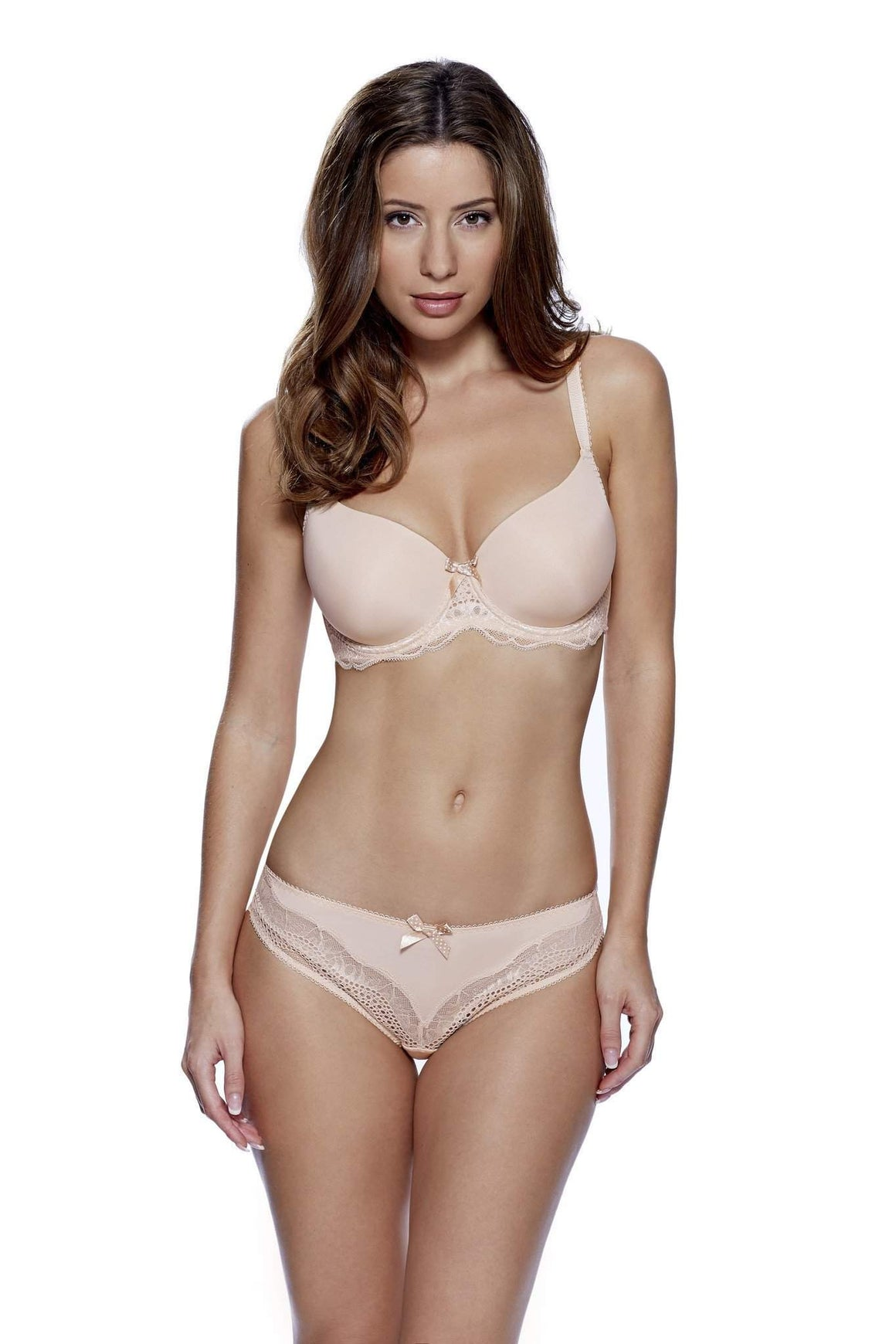 Lyla T-Shirt Bra in Nude by Lepel - Charnos / Lepel - Katys Boutique Lingerie USA