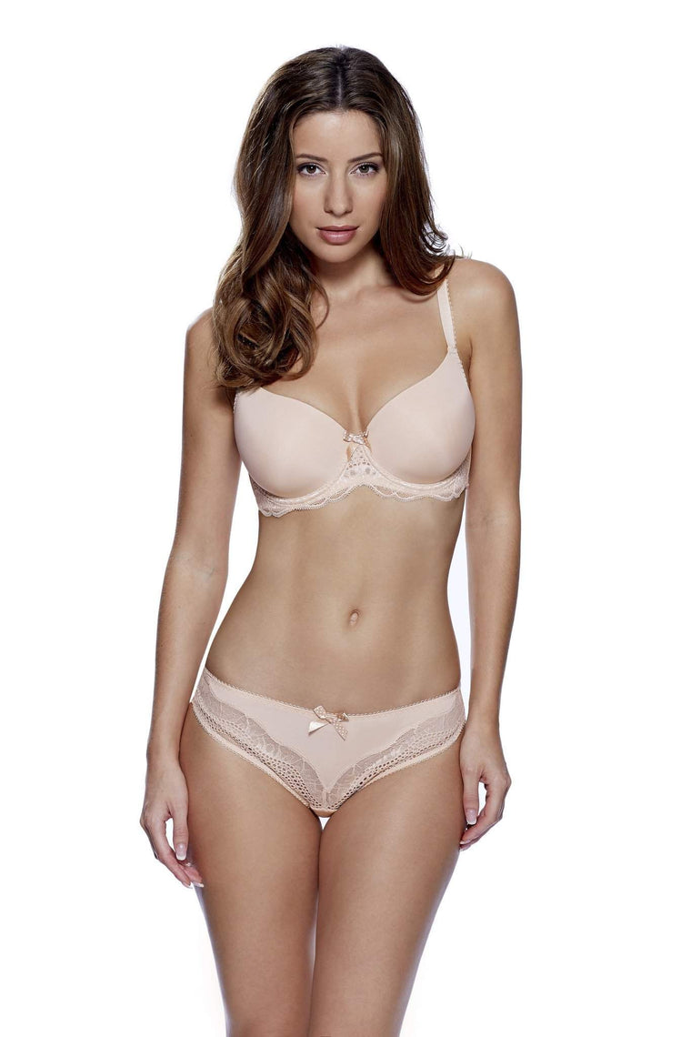 Lyla Brazilian Brief in Nude by Lepel - Charnos / Lepel - Katys Boutique Lingerie USA