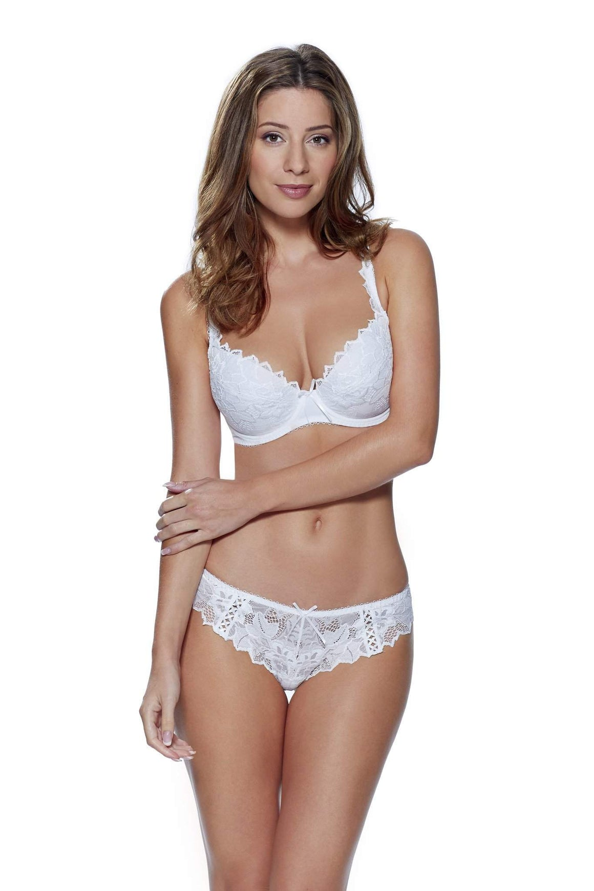 Fiore Thong in White by Lepel - Charnos / Lepel - Katys Boutique Lingerie USA