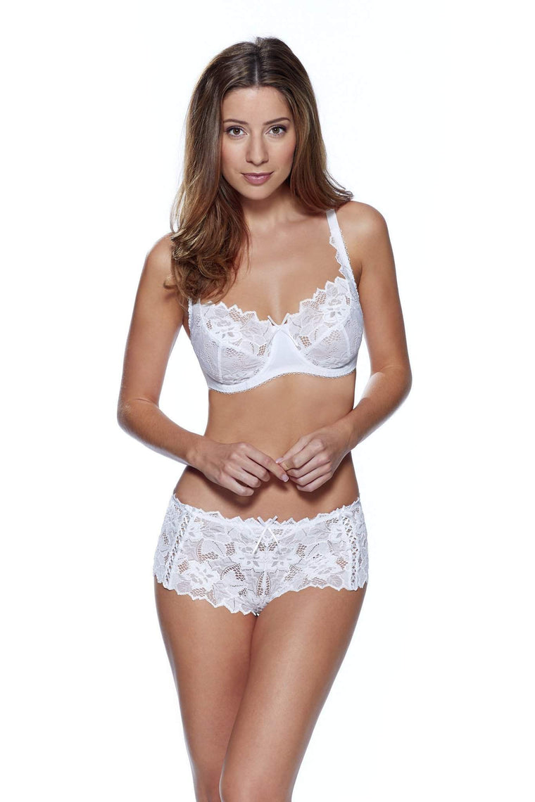 Fiore Shorts in White by Lepel - Charnos / Lepel - Katys Boutique Lingerie USA