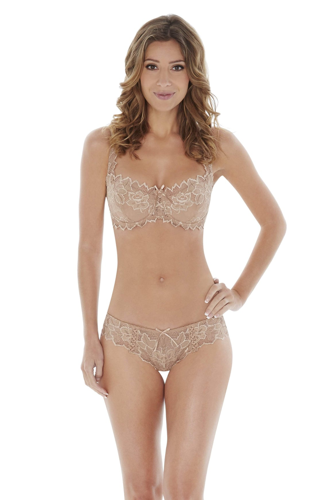 Fiore Balcony Bra in Nude by Lepel - Charnos / Lepel - Katys Boutique Lingerie USA