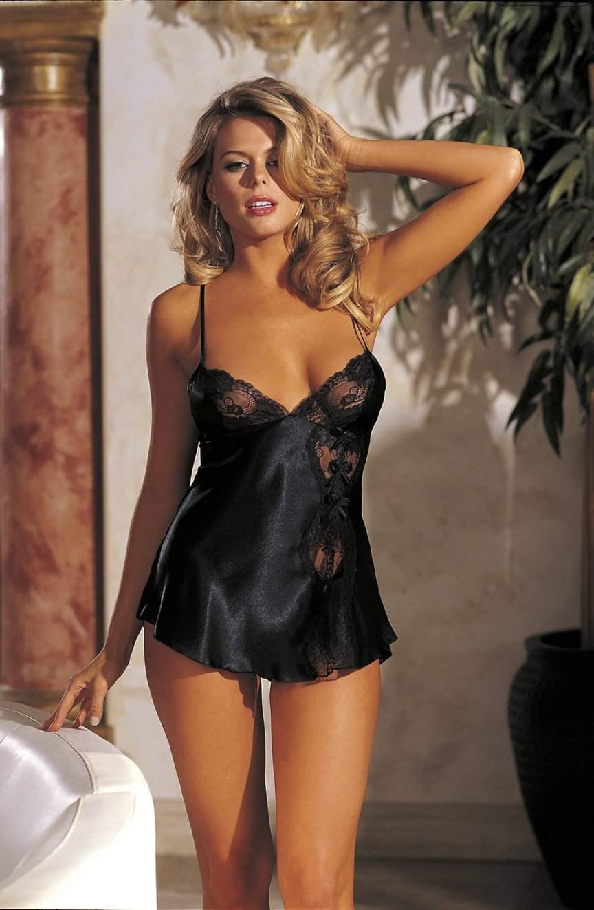 20016 Lace Babydoll in Black by Shirley of Hollywood - Shirley of Hollywood - Katys Boutique Lingerie USA