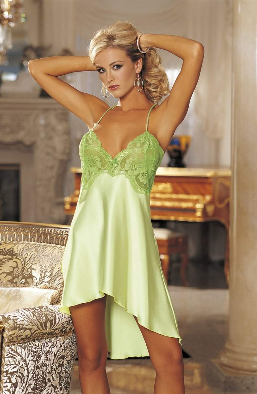 00240e4d79e 20365 Chemise in Spring Green by Shirley of Hollywood - Shirley of Hollywood  - Katys Boutique ...
