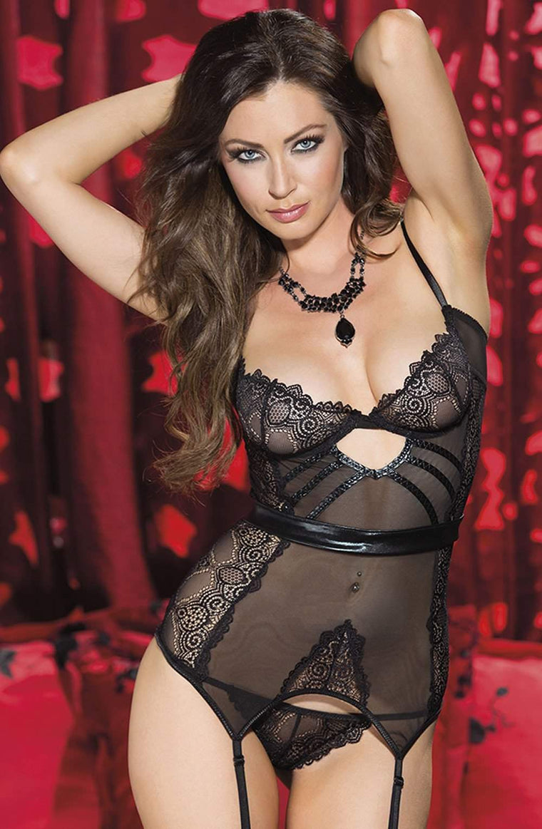 SoH 31059 Bustier Black - Shirley of Hollywood - Katys Boutique Lingerie USA