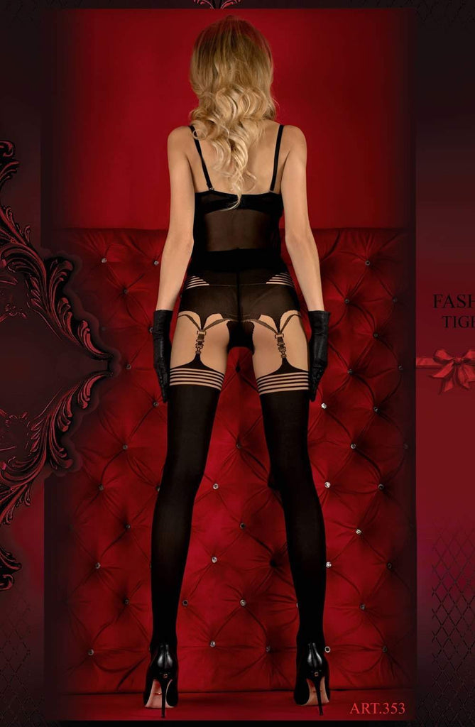 Ballerina 353 Tights Skin / Nero (Black) - Ballerina - Katys Boutique Lingerie USA