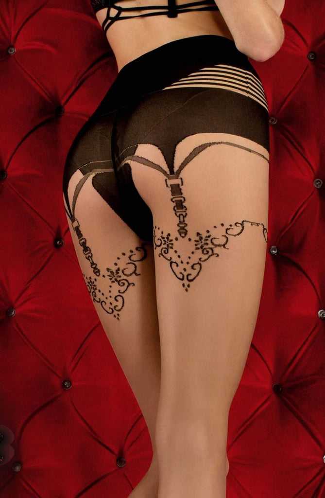 Ballerina 354 Tights Skin / Nero (Black) - Ballerina - Katys Boutique Lingerie USA