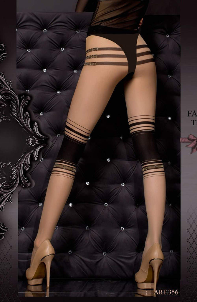 Ballerina 356 Tights Skin / Nero (Black) - Ballerina - Katys Boutique Lingerie USA