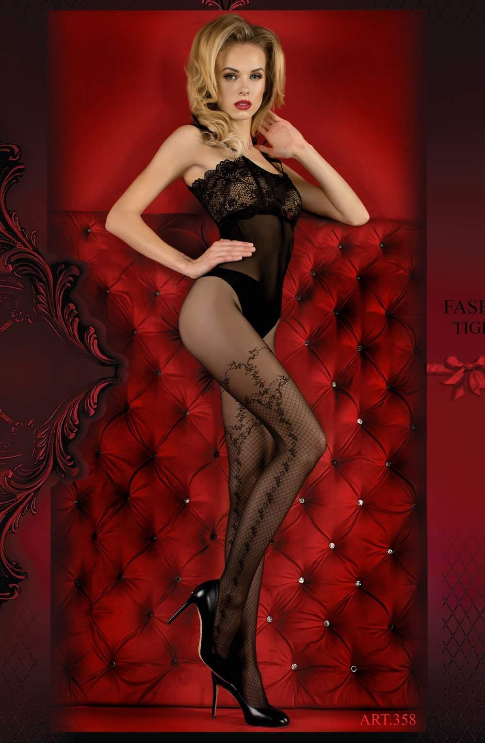 Ballerina 358 Tights Nero (Black) - Ballerina - Katys Boutique Lingerie USA