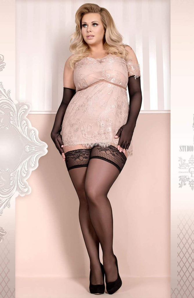 Ballerina 363 Hold Ups Nero (Black) - Ballerina - Katys Boutique Lingerie USA