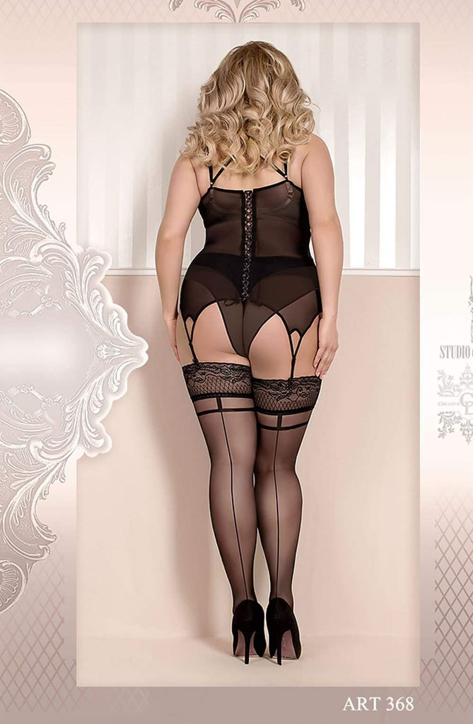 Ballerina 368 Hold Ups Nero (Black) - Ballerina - Katys Boutique Lingerie USA