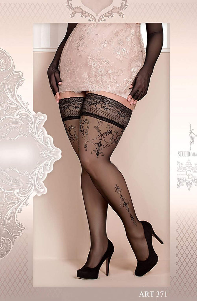 Ballerina 371 Hold Ups Nero (Black) - Ballerina - Katys Boutique Lingerie USA