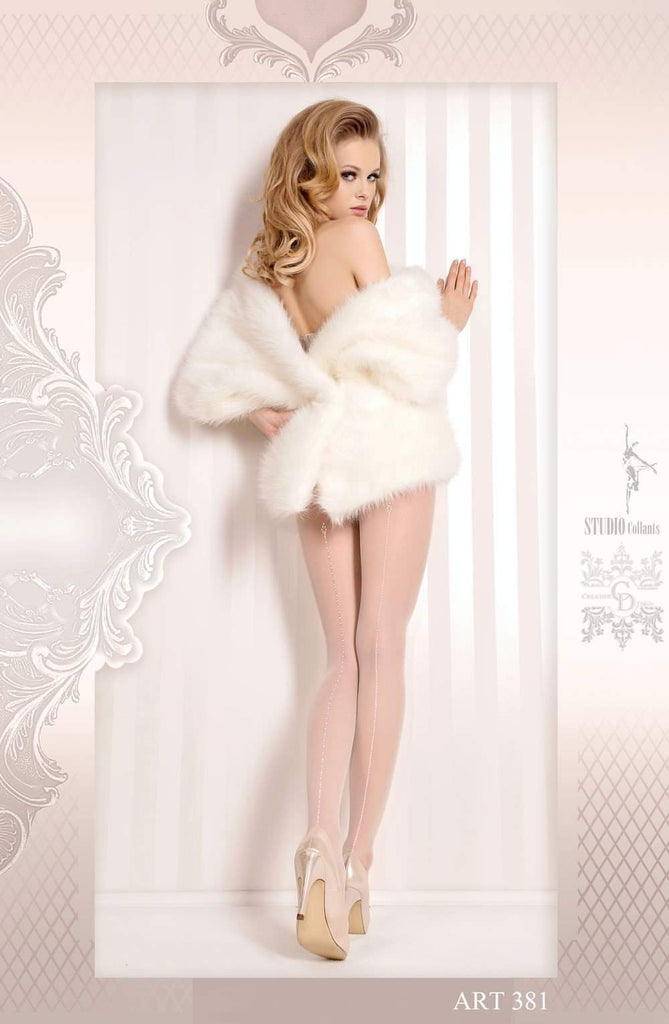 Ballerina 381 Tights Bianco (White) - Ballerina - Katys Boutique Lingerie USA