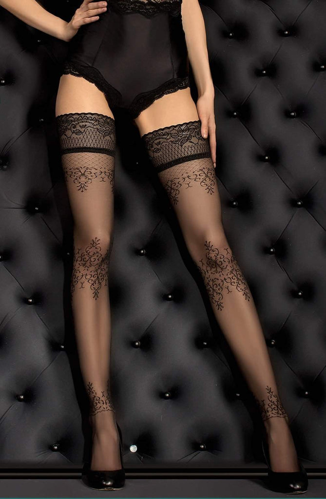 Ballerina 382 Hold Ups Nero (Black) - Ballerina - Katys Boutique Lingerie USA